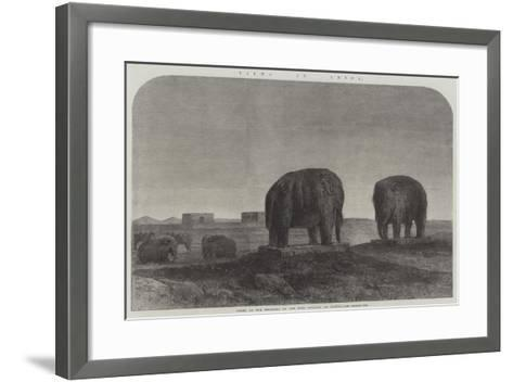 Views in China, Tombs of the Emperors of the Ming Dynasty, at Nankin--Framed Art Print