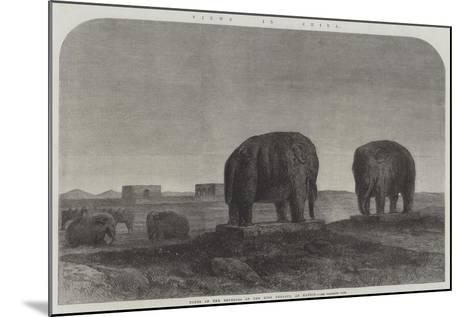 Views in China, Tombs of the Emperors of the Ming Dynasty, at Nankin--Mounted Giclee Print