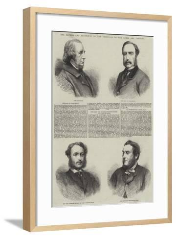 The Movers and Seconders of the Addresses in the Lords and Commons--Framed Art Print