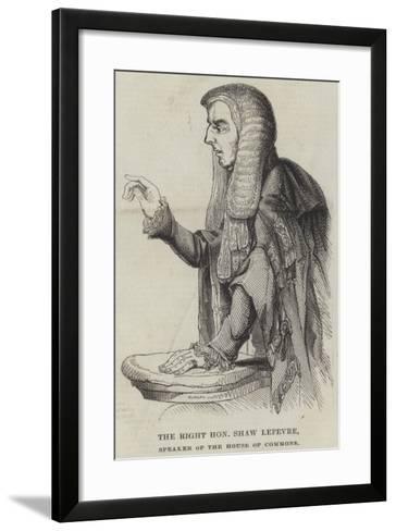 The Right Honourable Shaw Lefevre, Speaker of the House of Commons--Framed Art Print