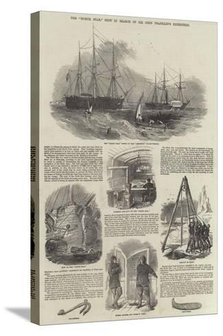 The North Star, Sent in Search of Sir John Franklin's Expedition--Stretched Canvas Print