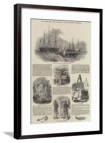The North Star, Sent in Search of Sir John Franklin's Expedition--Framed Art Print