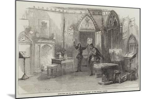 Scene from the New Play of The First Printer, at the Princess' Theatre--Mounted Giclee Print