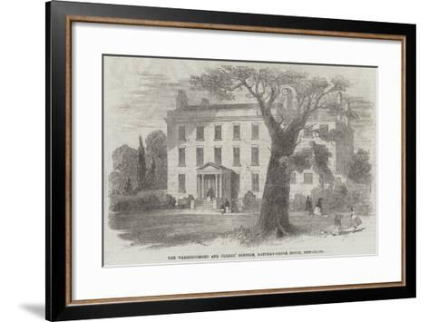 The Warehousemen and Clerks' Schools, Hatcham-Grove House, New-Cross--Framed Art Print