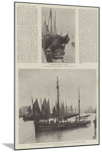 The Loss of the Elbe--Mounted Giclee Print