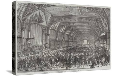 Opening of the New Metropolitan Meat Market, Smithfield, the Banquet--Stretched Canvas Print