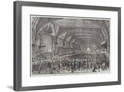 Opening of the New Metropolitan Meat Market, Smithfield, the Banquet--Framed Art Print