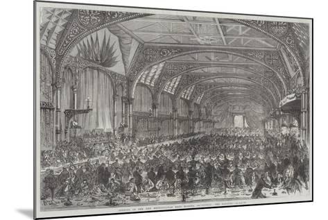 Opening of the New Metropolitan Meat Market, Smithfield, the Banquet--Mounted Giclee Print