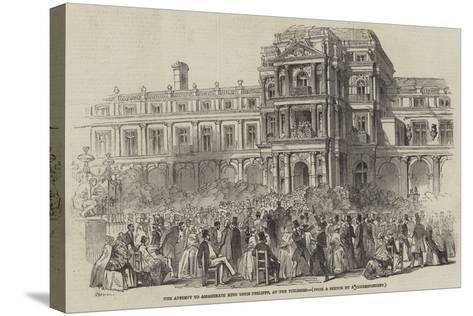 The Attempt to Assassinate King Louis Philippe, at the Tuileries--Stretched Canvas Print