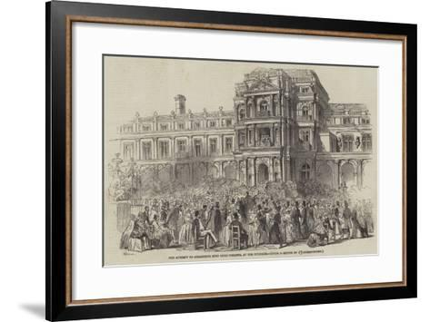 The Attempt to Assassinate King Louis Philippe, at the Tuileries--Framed Art Print