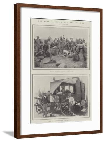 The Boer as Mason and Medical Man--Framed Art Print