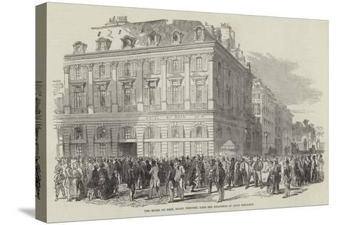 The Hotel Du Rhin, Place Vendome, Late the Residence of Louis Napoleon--Stretched Canvas Print