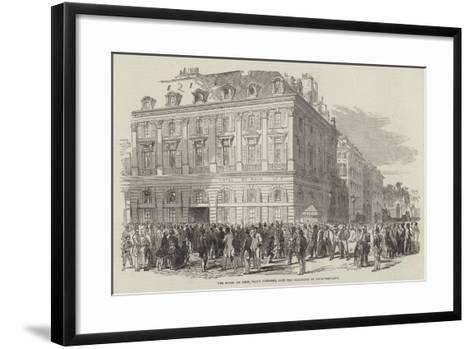 The Hotel Du Rhin, Place Vendome, Late the Residence of Louis Napoleon--Framed Art Print