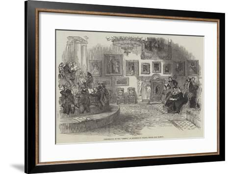 Performance of the Oedipus, at Buckingham Palace, before Her Majesty--Framed Art Print