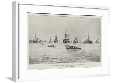 The Naval Manoeuvres, Arrival of the Channel Squadron in Mount's Bay--Framed Art Print