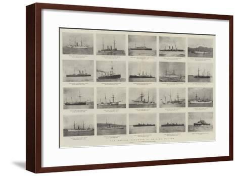 The British Squadron in Chinese Waters--Framed Art Print