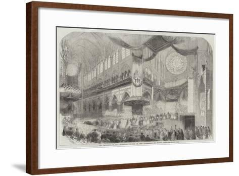 The Baptism of the Imperial Prince in the Cathedral of Notre Dame--Framed Art Print