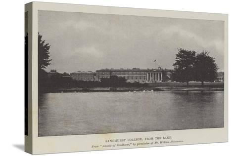 Sandhurst College, from the Lake--Stretched Canvas Print