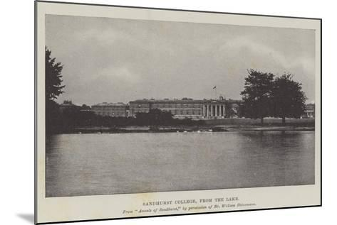 Sandhurst College, from the Lake--Mounted Giclee Print