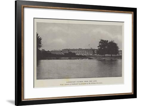 Sandhurst College, from the Lake--Framed Art Print