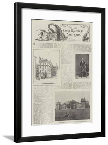 The Late Lord Randolph Churchill--Framed Art Print