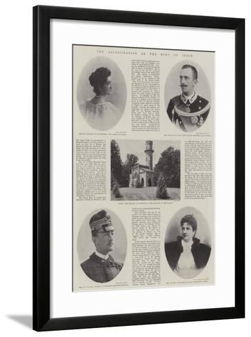The Assassination of the King of Italy--Framed Art Print