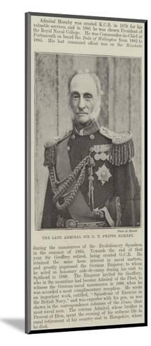 The Late Admiral Sir G T Phipps Hornby--Mounted Giclee Print