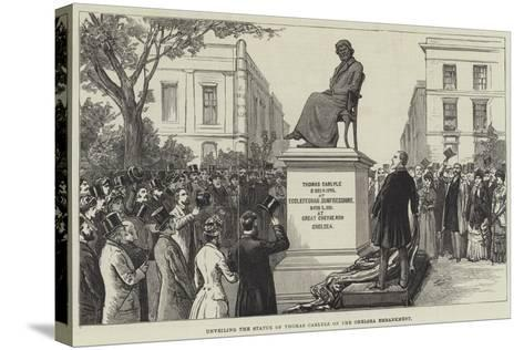 Unveiling the Statue of Thomas Carlyle on the Chelsea Embankment--Stretched Canvas Print