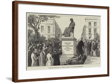 Unveiling the Statue of Thomas Carlyle on the Chelsea Embankment--Framed Art Print