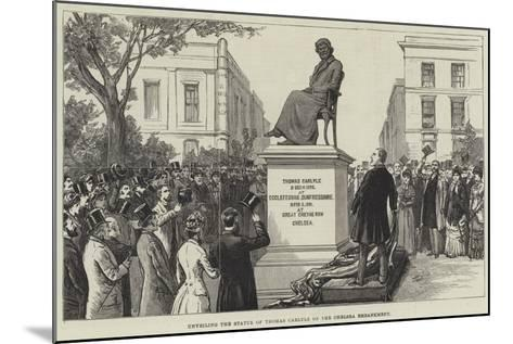 Unveiling the Statue of Thomas Carlyle on the Chelsea Embankment--Mounted Giclee Print