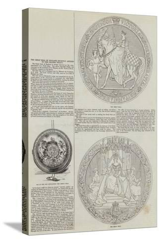 The Great Seal of England Recently Affixed to the Chinese Treaty--Stretched Canvas Print