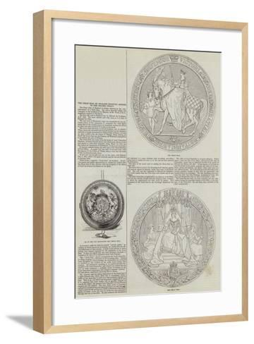 The Great Seal of England Recently Affixed to the Chinese Treaty--Framed Art Print