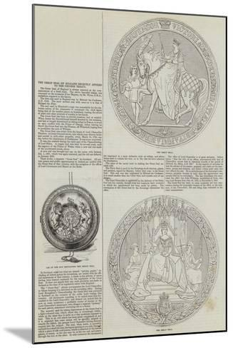 The Great Seal of England Recently Affixed to the Chinese Treaty--Mounted Giclee Print