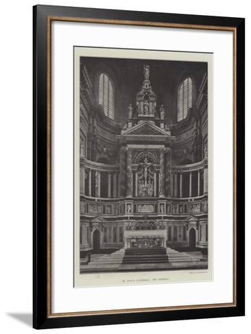 St Paul's Cathedral, the Reredos--Framed Art Print
