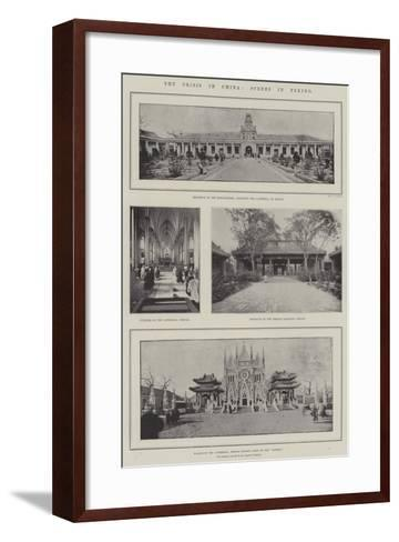 The Crisis in China, Scenes in Peking--Framed Art Print