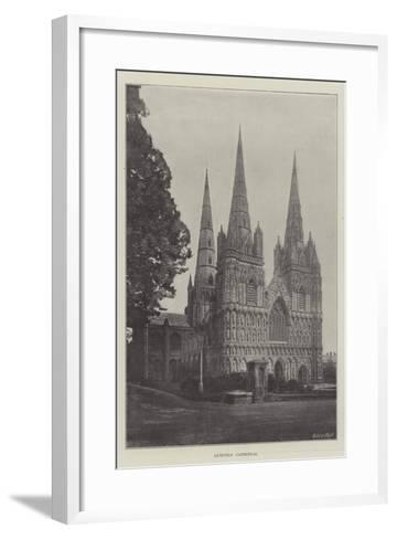 Lichfield Cathedral--Framed Art Print