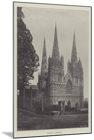 Lichfield Cathedral--Mounted Giclee Print
