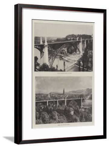 The Viaduct at Bern--Framed Art Print