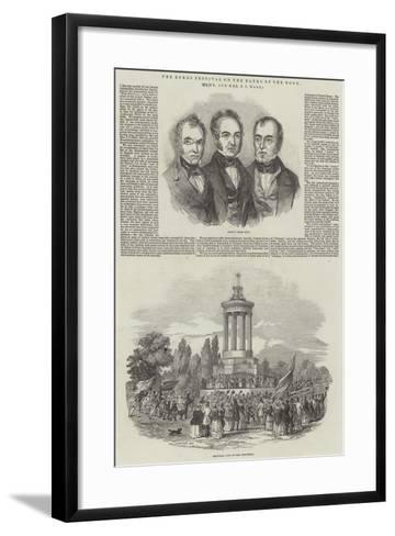 The Burns Festival on the Banks of the Doon, by Mr and Mrs S C Hall--Framed Art Print