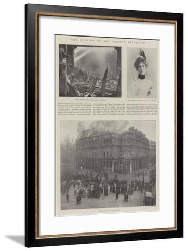 The Burning of the Comedie Francaise--Framed Art Print