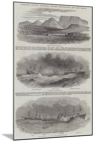 Submarine Electric Telegraph Between Newfoundland and Cape Breton--Mounted Giclee Print