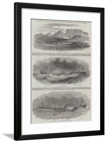 Submarine Electric Telegraph Between Newfoundland and Cape Breton--Framed Art Print