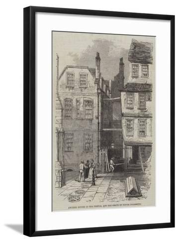 Ancient Houses in the Temple, and the Grave of Oliver Goldsmith--Framed Art Print