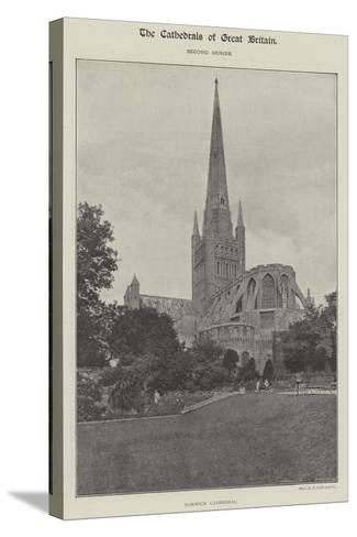 Norwich Cathedral--Stretched Canvas Print