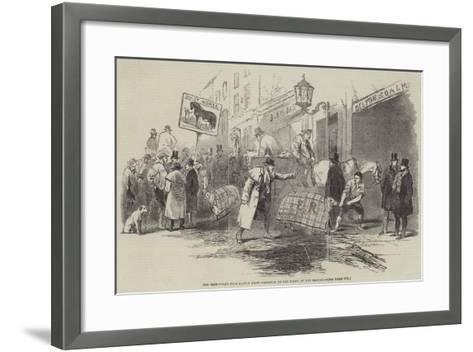 The Smithfield Club Cattle Show, Arrival of Fat Sheep at the Bazaar--Framed Art Print