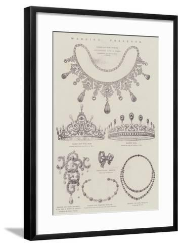 Wedding of Princess Maud of Wales and Prince Charles of Denmark--Framed Art Print
