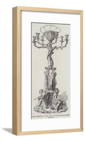 Plate Presented to the Honourable R Godlanton, Mlc, by Cape Colonists--Framed Art Print