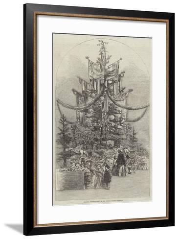 Gigantic Christmas-Tree, at the Crystal Palace, Sydenham--Framed Art Print
