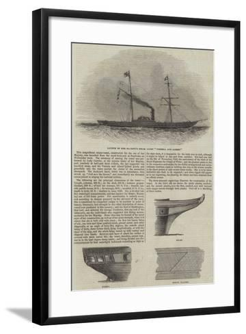 Launch of Her Majesty's Steam Yacht Victoria and Albert--Framed Art Print