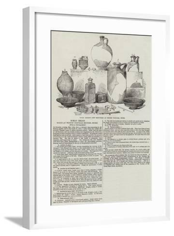 Roman Relics Found at Weston Turville Rectory, Bucks--Framed Art Print